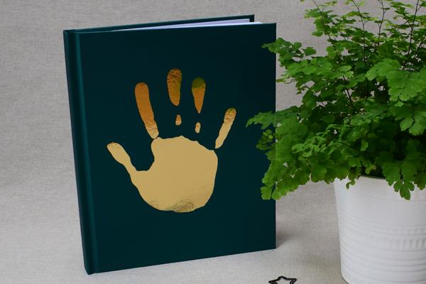 Personalised Foil Handprint notebook