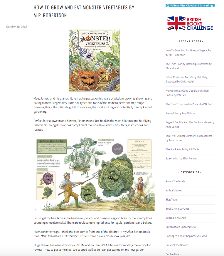 How To Grow & Eat Monster Vegetables review by Miss Cleveland Is Reading