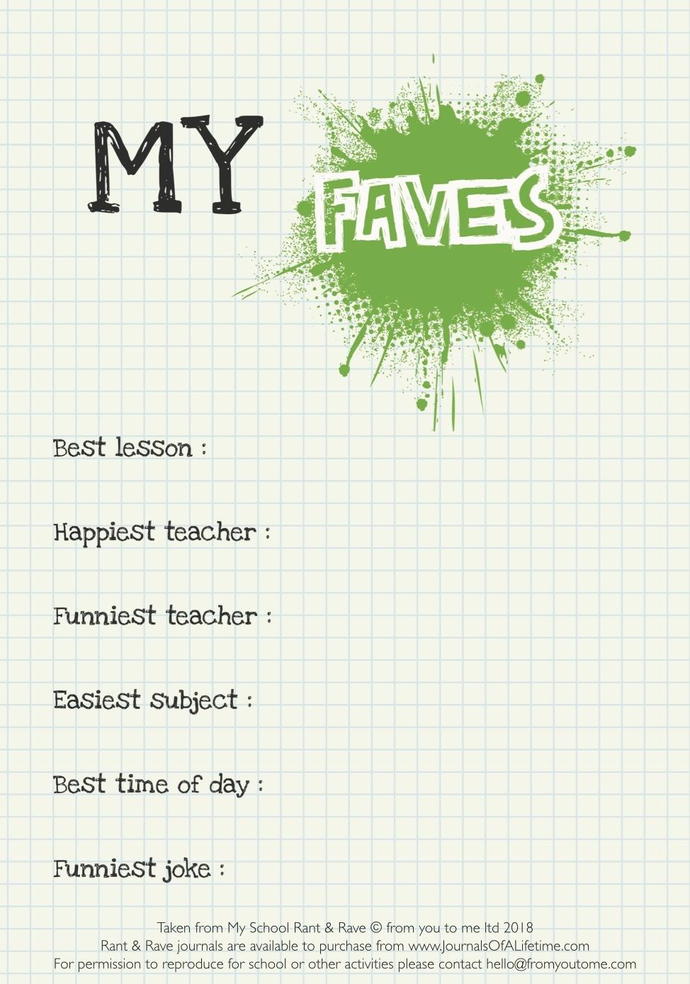 My School - My Faves