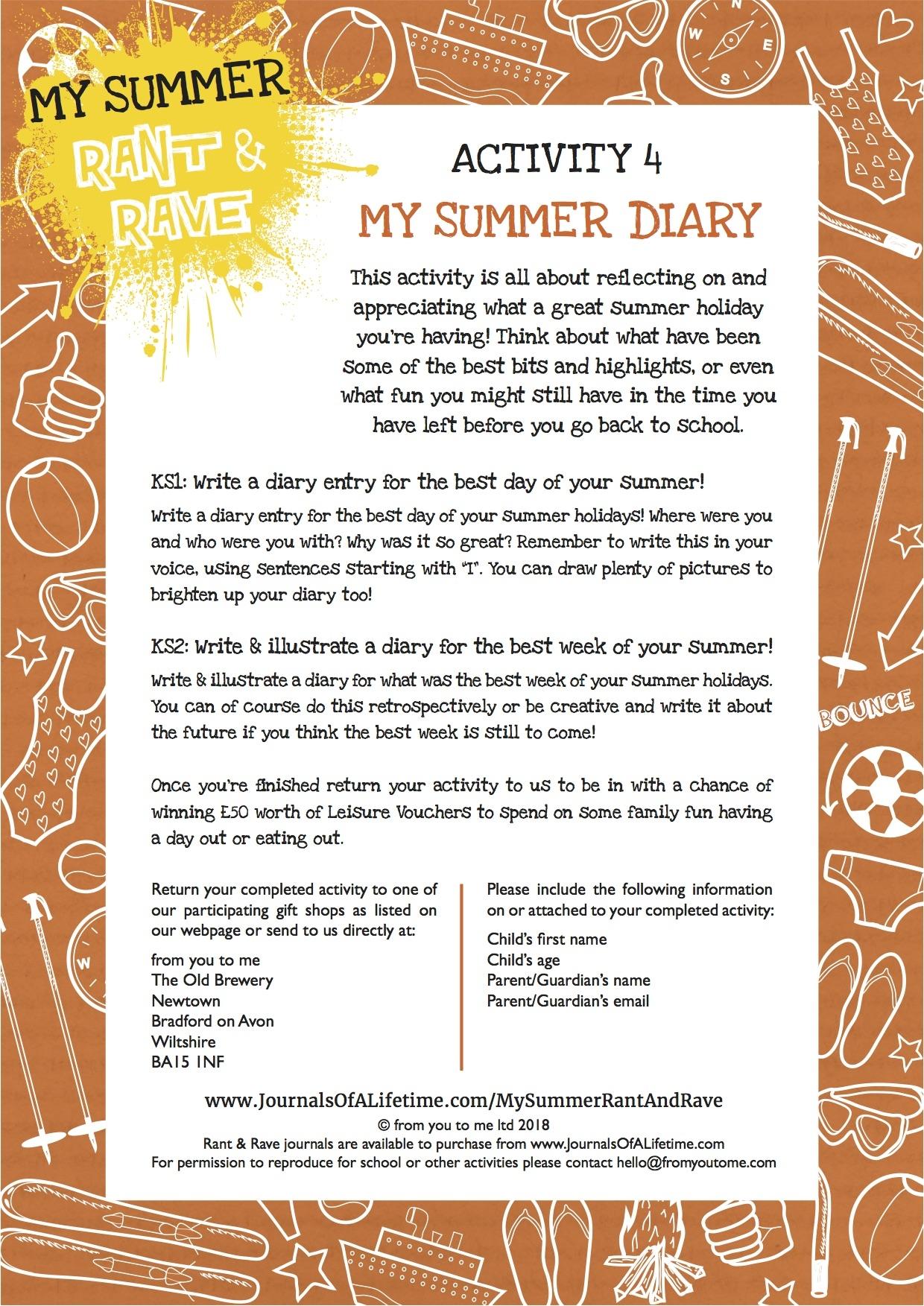 My Summer Diary