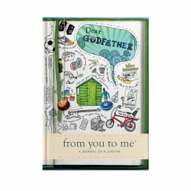 guided memory journal for Dear Godfather (sketch) for Fathers by from you to me