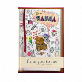 guided memory journal for Nanna sketch cover by from you to me
