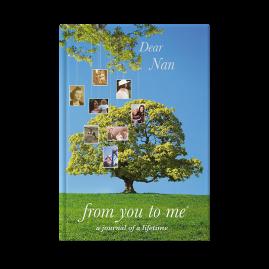 Dear Nan (tree) hardback guided memory journal
