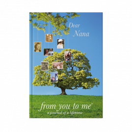 Dear Nana (tree) hardback guided memory journal