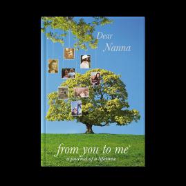 Dear Nanna (tree) hardback guided memory journal