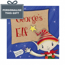 Personalised Christmas Elf children's story softback book cover