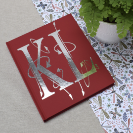 Personalised Foil Blocked Initials Notebook