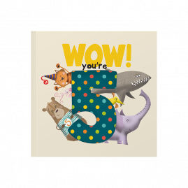 WOW! You're Five a fifth birthday book that can be sent as a card