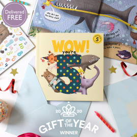 WOW! You're Five a fifth birthday book that can be sent as a card by from you to me