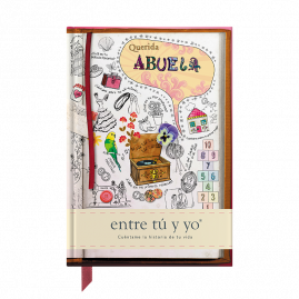Querida Abuela Spanish hardback guided memory journal