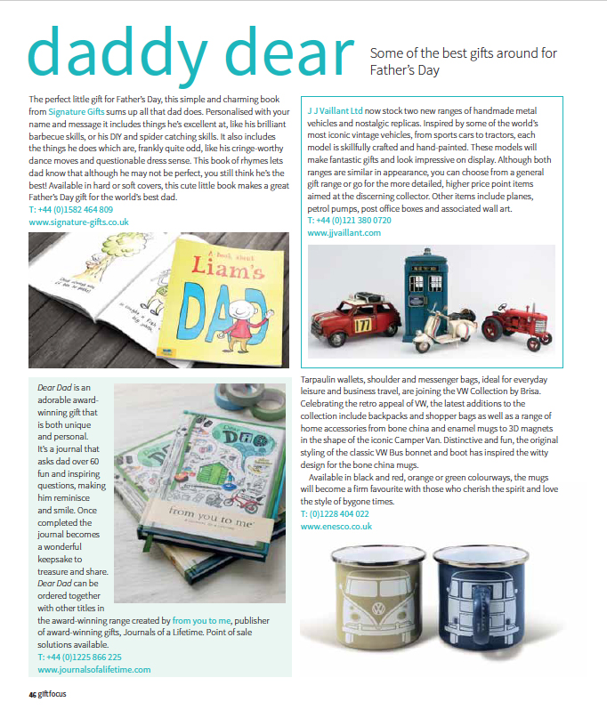 Dear Dad Gift Focus Mar/April 2016